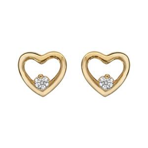 Boucles d 39 oreilles en plaqu or coeur ajour avec oxyde for Interieur oreille