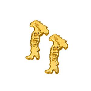 Boucles D'oreille carte italie plaqué or