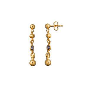 Boucles D'oreille pendantes pierre bleue