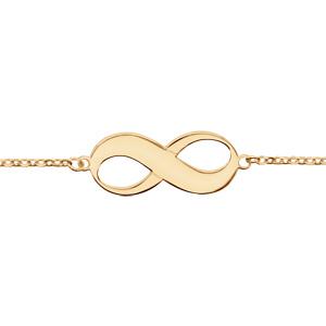 1001 Bijoux - Bracelet plaqué or motif infini à graver 16+3cm pas cher