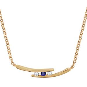 1001 Bijoux - Collier plaqué or 2 branches 2 pierres blanches et 1 centrale bleue 44,5+3,5cm pas cher