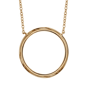 Image of Collier plaqué or anneau diamètre 20mm 40+4cm