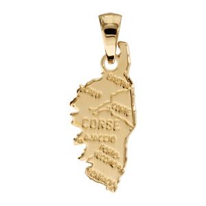 1001 Bijoux - Pendentif Corse plaqué or - modèle moyen pas cher
