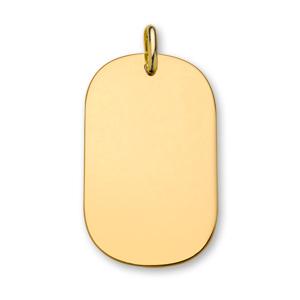 1001 Bijoux - Plaque plaqué or GI pans arrondis grand modèle 44*27 pas cher