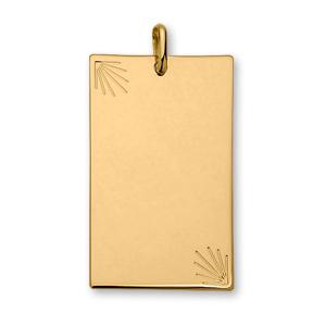 1001 Bijoux - Pendentif plaqué or plaque étoilées très grand modèle 49*30 pas cher