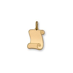 1001 Bijoux - Pendentif plaqué or parchemin petit modèle 18*15 pas cher