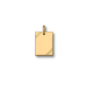 Image of Plaque GI plaqué or striée petit modèle 20*15