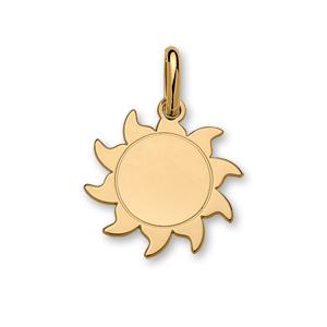 1001 Bijoux - Pendentif plaqué or soleil moyen modèle diamètre 23mm pas cher