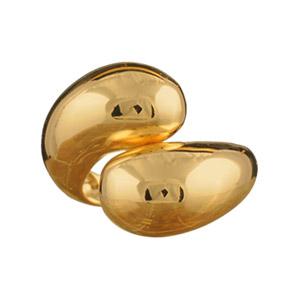 Bague plaqué or enroulée