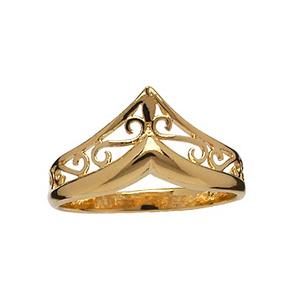 Bague Forme pointe plaqué or