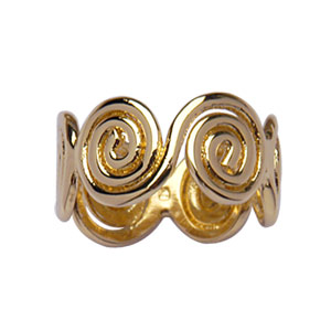 Bague 6 spirales plaqué or