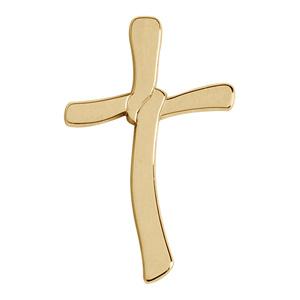 Croix Chrétienne plaqué or avec noeud