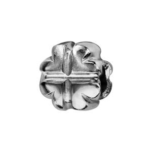1001 Bijoux - Charms coulissant argent rhodié trèfle à 4 feuilles pas cher
